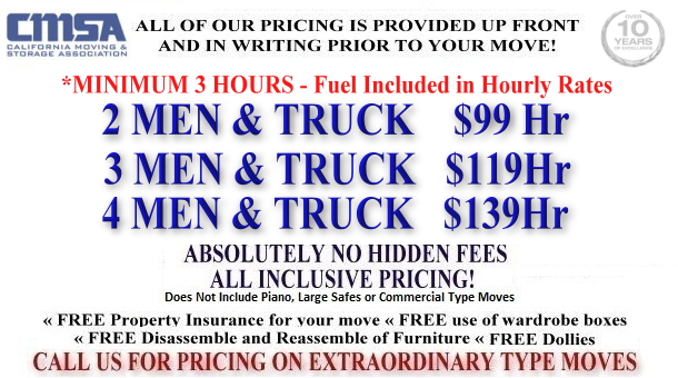 Professional movers San Francisco CA
