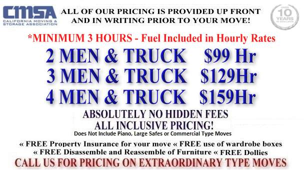 San Francisco Local Movers Discount Rates & Estimates